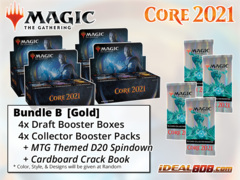 !MTGM21 BUNDLE (B) Gold - Get x4 Core Set 2021 Booster Box + x4 Collector Packs