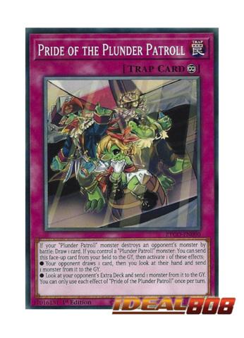 3 x Pride of the Plunder Patroll ETCO-EN090-1st Edition YuGiOh NEW