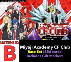 # Miyaji Academy CF Club [V-BT03 ID (B)] Base Set [Includes 4 of each VR's, RRR's, RR's, R's, & C's (356 cards)]