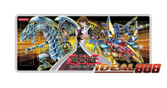Gold Series 4 Playmat - Kaiba with Blue-Eyes White Dragon & XYZ-Dragon Cannon - SPECIAL Sale Price!