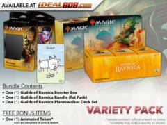 MTGGRN Variety Pack - Get x1 Guilds of Ravnica Booster Box; x1 Bundle; & 1 Planeswalker Deck Set +FREE Bonus Items