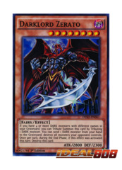 Darklord Zerato - DESO-EN041 - Super Rare - 1st Edition