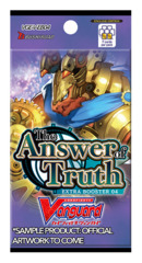 CFV-V-EB04 The Answer of Truth (English) Cardfight Vanguard V-Extra Booster Pack