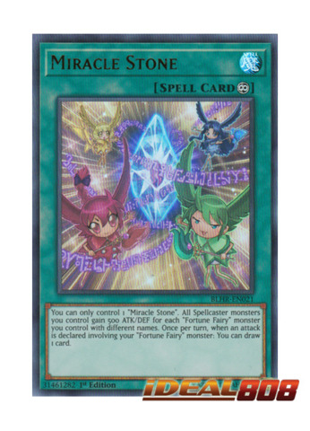 Miracle Stone - BLHR-EN021 - Ultra Rare - 1st Edition