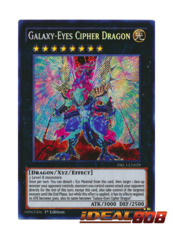 Galaxy-Eyes Cipher Dragon - DRL3-EN029 - Secret Rare - 1st Edition
