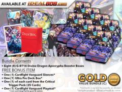 CFV-G-BT14 Bundle (C) Gold - Get x8 Divine Dragon Apocrypha Booster Box + FREE Bonus Items * PRE-ORDER Ships Mar.9