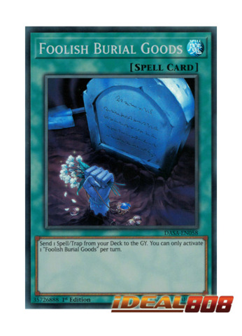 Foolish Burial Goods - DASA-EN058 - Super Rare - 1st Edition