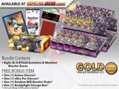 FC-Buddyfight X-BT02A Bundle (C) Gold - Get x8 Evolution & Mutation Booster Box + FREE Bonus Items