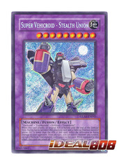 Super Vehicroid - Stealth Union - GLAS-EN041 - Secret Rare - 1st Edition