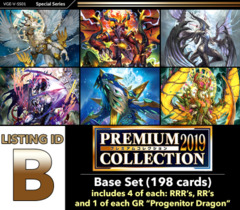 # PREMIUM COLLECTION 2019 [V-SS01 ID (B)] Base Set [Includes 4 of each RRR's, RR's + 1 of each GR's (198 cards)]