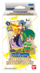 DGMN-ST03 Heaven's Yellow (English) Digimon CCG Starter Deck [contains 54 card deck + 1 Ver.1.0 Pack]