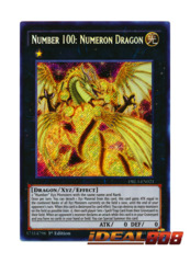Number 100: Numeron Dragon - DRL3-EN021 - Secret Rare - 1st Edition