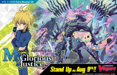 CFV-V-EB08 My Glorious Justice (English) Cardfight Vanguard V-Extra Booster  Case [24 Boxes] * PRE-ORDER Ships Aug.09