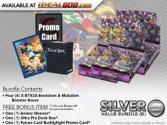 FC-Buddyfight X-BT02A Bundle (B) Silver - Get x4 Evolution & Mutation Booster Box + FREE Bonus Items