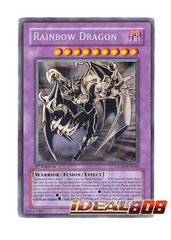 Elemental Hero Chaos Neos Ghost Rare - Rainbow Dragon Misprint - GLAS-EN036 - Ghost Rare - 1st Edition