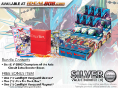 CFV-V-EB02  Bundle (B) Silver - Get x6 Champions of the Asia Circuit Cardfight Vanguard Booster Box + FREE Bonus Items