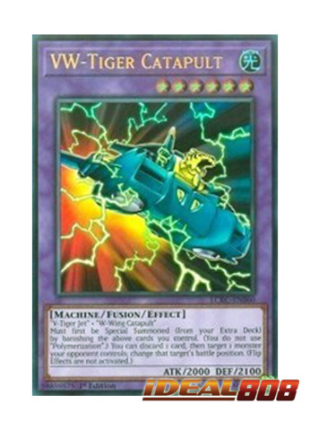 YuGioh VW Tiger Catapult NM 1st Ed. LCKC-EN060 Ultra Rare Card