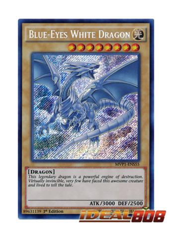 Blue-Eyes White Dragon - MVP1-ENS55 - Secret Rare - 1st Edition