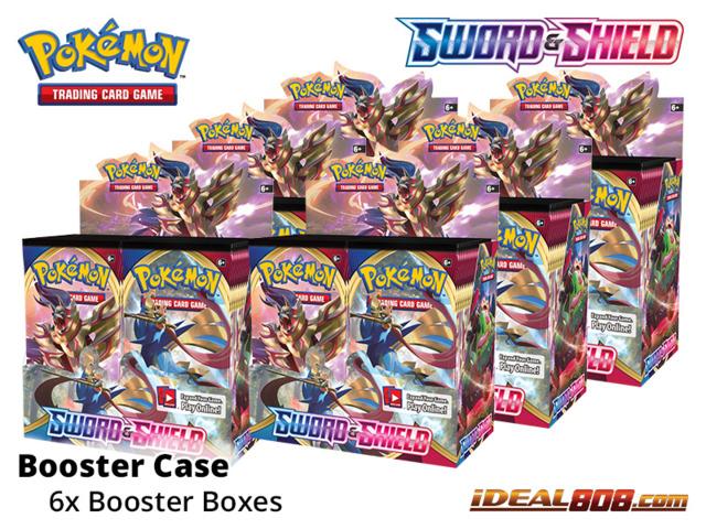 SS Sword & Shield - Base Set (SS01) Pokemon Booster  Case [6 Boxes]