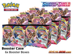 SS Sword & Shield - Base Set (SS01) Pokemon Booster  Case [6 Boxes] * PRE-ORDER Ships Feb.07