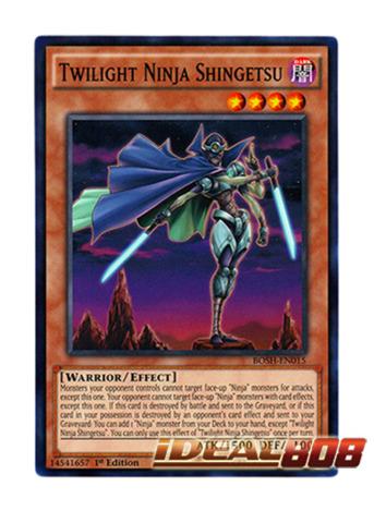 3X YU-GI-OH CARD TWILIGHT NINJA SHINGETSU BOSH-EN015