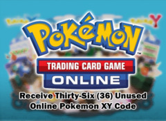 Pokemon XY Base Set TCGO Unused Promo Codes (36-count)