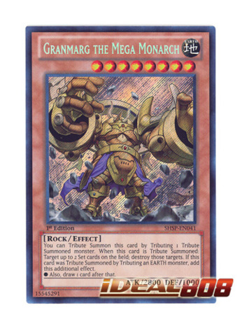 Granmarg the Mega Monarch SHSP-EN041 1st Ed YuGiOh Card Secret Rare