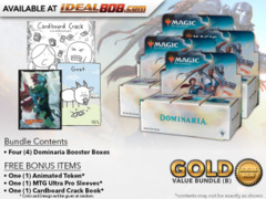MTGDOM Bundle (B) Gold - Get x4 Dominaria Booster Box + FREE Bonus Items * PRE-ORDER Ships Apr.27