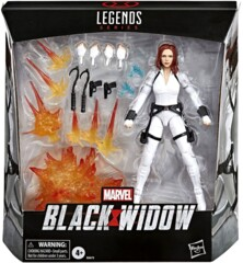 Marvel Legends: Black Widow  6-Inch Deluxe White Costume Action Figure with Stand