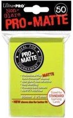 Ultra Pro PRO-Matte Standard Sleeves - Bright Yellow (50ct)