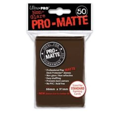 Ultra Pro PRO-Matte Standard Sleeves - Brown (50ct)