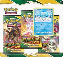 Pokemon TCG - Evolving Skies 3 Pack Blister [Eiscue]