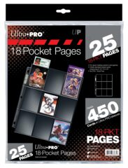 Ultra Pro 18-Pocket Pages(25 Pages)