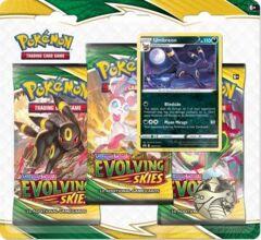 Pokemon TCG - Evolving Skies 3 Pack Blister [Umbreon]