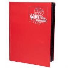 Monster Binder 9 Pocket: Red