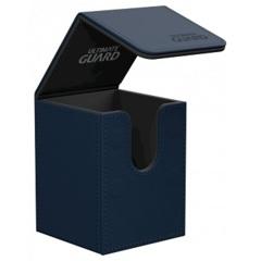 Ultimate Guard 100+ Flip Deck Case Leatherette - Dark Blue