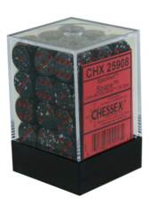 Chessex: 12mm D6 36 Dice Block Speckled Space