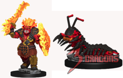 Wardlings Minis: Fire Ork and Fire Centipede
