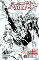 Amazing Spider-Man #1 J. Scott Campbell Black & White Exclusive Midtown Comics Variant