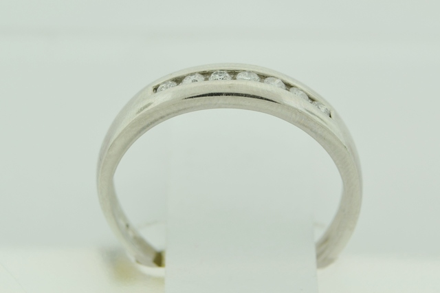 Diamond Channel Band, Set in 14k White Gold