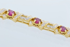 Ruby and Diamond Bracelet, in 18k Yellow Gold