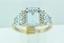 Aquamarine and Diamond Ring, in 10k White Gold