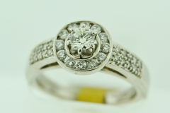 Diamond Engagement Ring, Set in 14k White Gold