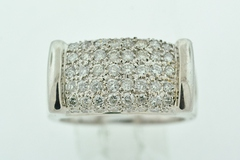 Large Statement Diamond Band, Set in 14k White Gold