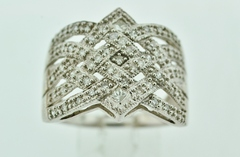 Statement Diamond Band, Set in 10k White Gold