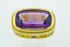 Amethyst and Diamond Ring, in 18k Yellow Gold