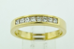 Diamond Channel Band, Set in 14k Yellow Gold
