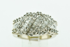 Fashion Diamond Ring, in 14k White Gold