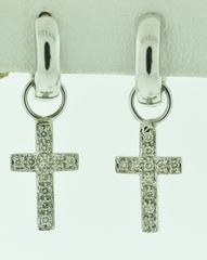 1/4ct tw Diamond Cross Earrings