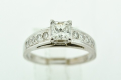 Princess Diamond Engagement Ring, in 14k White Gold